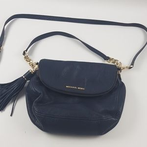 Michael Kores blue cross body purse bag
